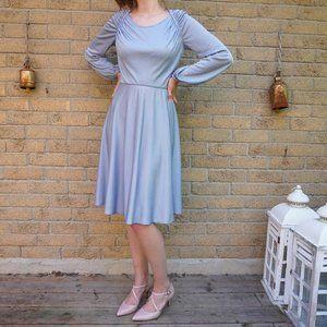 Vintage Original Light Blue Midi Dress